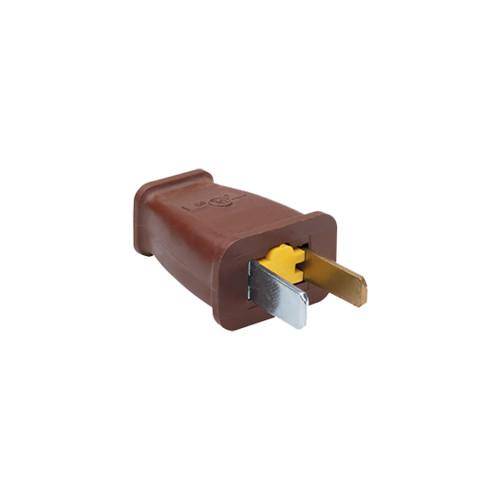 Pass & Seymour Straight Blade Polarized Plug, Brown