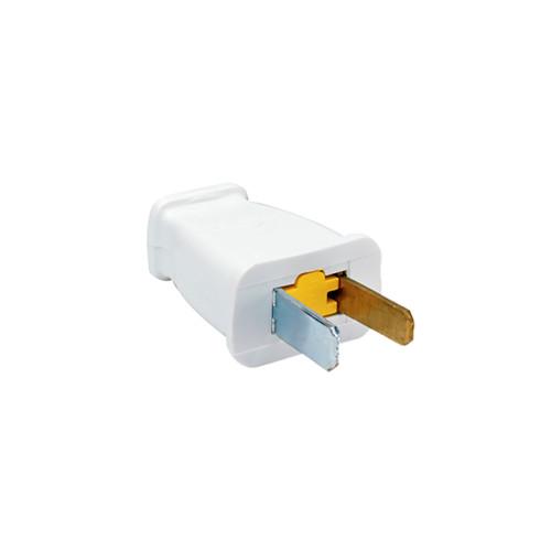Pass & Seymour Straight Blade Polarized Plug, White