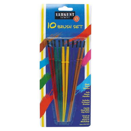 Sargent Art Shed-Proof Paint Brushes, 10-Piece