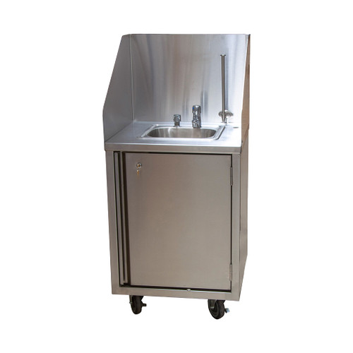 Diversified Woodcrafts Mobile Handwash Sink, Cold Water Metered Faucet