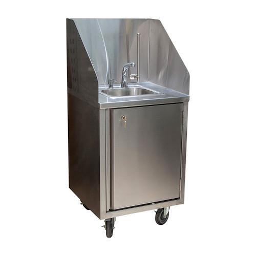 Diversified Woodcrafts Mobile Handwash Sink, Cold Water Sensor Faucet