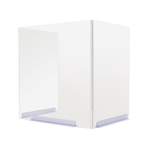 "Deflecto Portable Classroom Desktop Barrier, Hinged, 22""W x 16""D x 18""H"