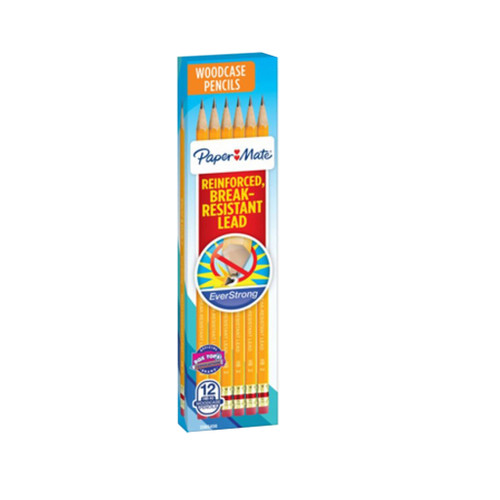 Paper Mate EverStrong No. 2 Pencil, 12-Pack
