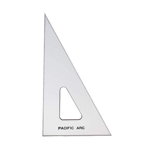 """Pacific Arc Professional C-Series Clear Triangle, 10"""" 30/60/90"""