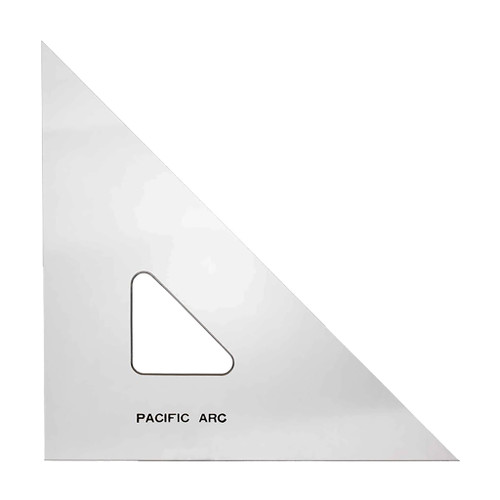 """Pacific Arc Professional C-Series Clear Triangle, 6"""" 45/90"""