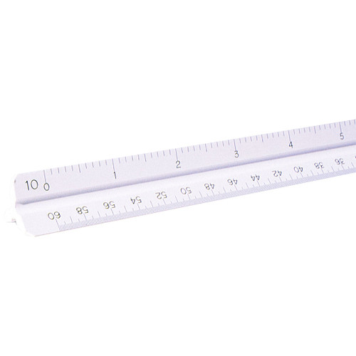 "Pacific Arc Triangular Scale, Engineer, 12"" White"
