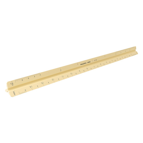 """Pacific Arc Triangular Scale, Architect, 12"""" Yellow DISCONTINUED"""