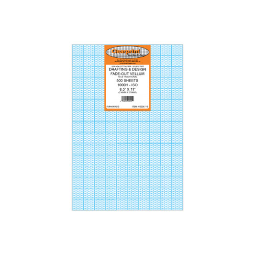 """Clearprint Fade-Out Vellum, Isometric, 8-1/2"""" x 11"""", 500"""