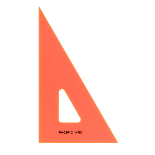 "Pacific Arc Professional Fluorescent F-Series Triangle, 10"" 30/60/90"