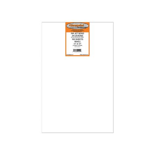 """Clearprint 24# Color Bond Plotter Paper, 11"""" x 17"""" 100-Pack"""