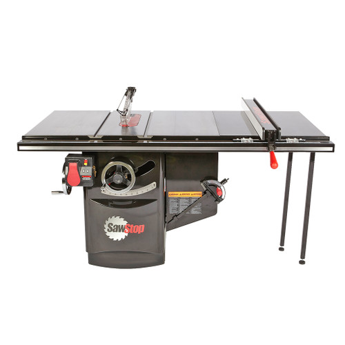 """SawStop 10"""" Industrial Cabinet Saw, 36"""" Industrial T-Glide Fence, 5 HP, 3 PH, 480V"""