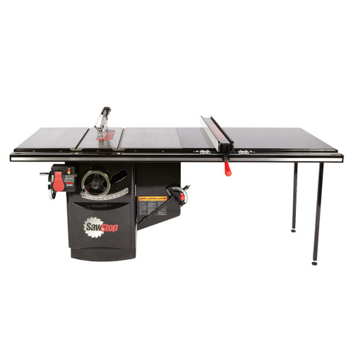 """SawStop 10"""" Industrial Cabinet Saw, 52"""" Industrial T-Glide Fence, 7.5 HP, 3 PH, 480V"""