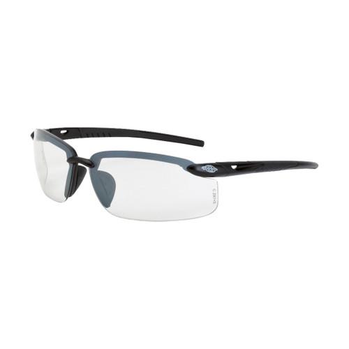 Radians Crossfire ES5 Premium Safety Glasses, Gray Frame, Clear Lens