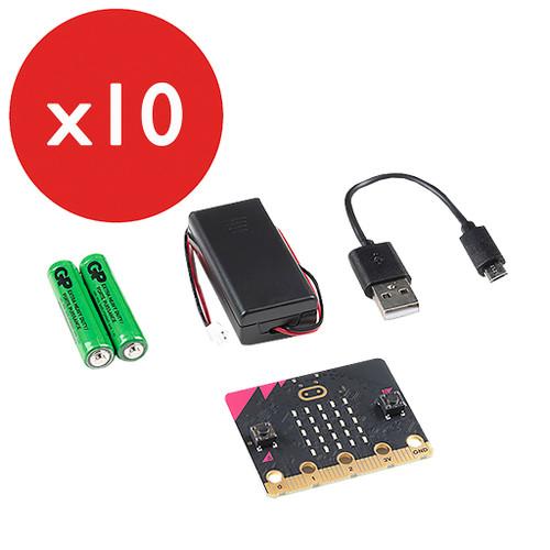 Spark Fun micro:bit v2  Club Kit Go Bundle 10-Pack
