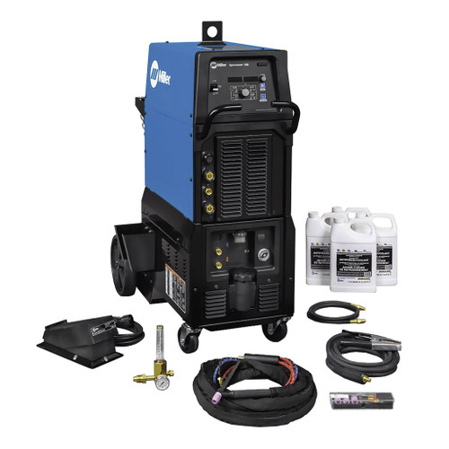Miller Syncrowave 300 TIG/Stick Welder, 208/240/480V, Complete with Wired Foot Pedal