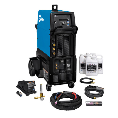 Miller Syncrowave 300 TIG/Stick Welder, 208/240/480V, Complete with Wireless Foot Control