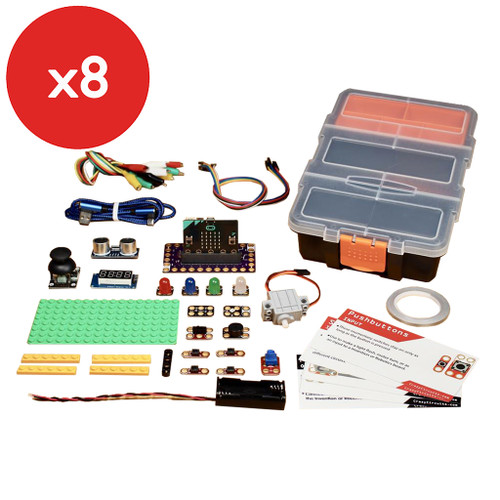 Brown Dog Gadgets Crazy Circuits Bit Board Classroom Kit, 8-Pack with micro:Bit