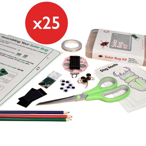 Brown Dog Gadgets Solar Bug 2.0 Classroom Kit, 25-Pack