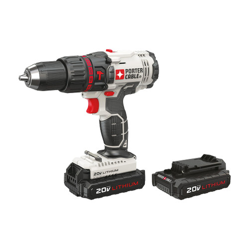 """Porter Cable 20V MAX 1/2"""" Cordless Compact Hammer Drill Kit"""