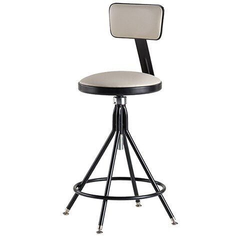 Krueger Upholstered Seat Stool with Backrest DISCONTINUED