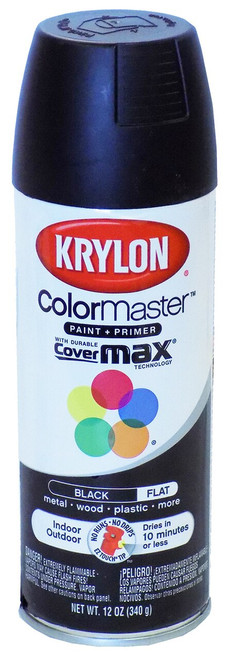 Krylon ColorMaster Paint and Primer, Flat, Black DISCONTINUED