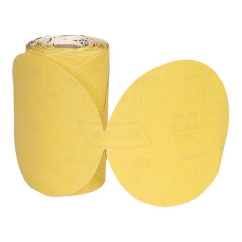 "Norton Gold Reserve A296 Paper PSA Disc Roll, 5"" 150 Grit, Qty. 100"