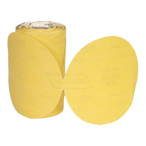 "Norton Gold Reserve A296 Paper PSA Disc Roll, 5"" 80 Grit, Qty. 100"