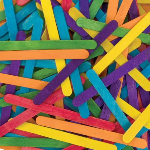"Creativity Street Multi-Colored Wood Craft Sticks, 4-1/2""L, 150"