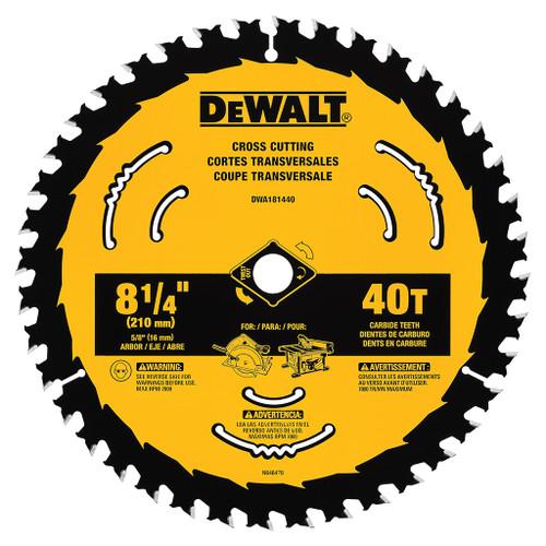 """DeWalt Cross Cut Saw Blade, 8-1/4"""" 40 TPI"""