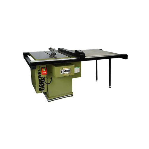 """General Intl 10"""" Auto Digital Table Saw, 36"""" T-Fence, 3 HP, 1 PH"""