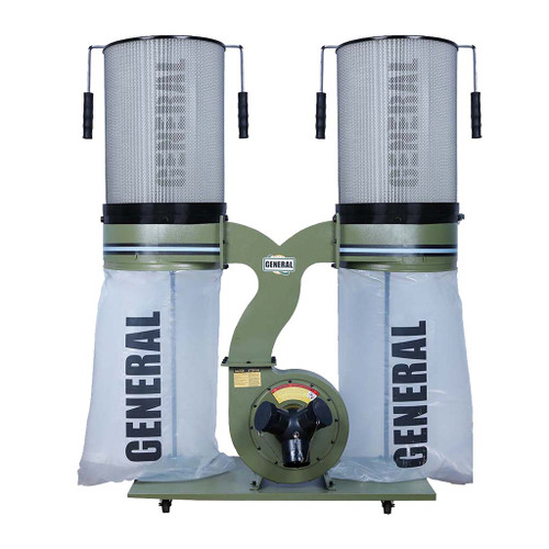 General Intl 3 HP Dust Collector with Smart Switch, Canister Filter