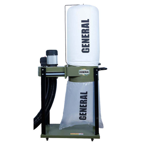 General Intl 1 HP Dust Collector with Smart Switch, Bag Filter
