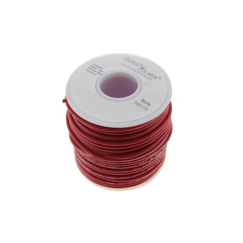 Multicomp Pro Stranded PVC Hook Up Wire, 24AWG Red