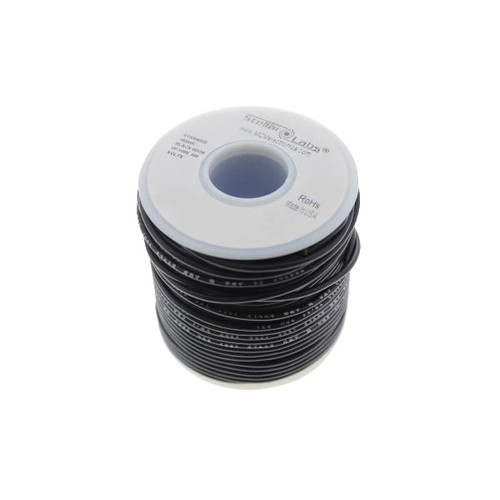 Multicomp Pro Stranded PVC Hook Up Wire, 24AWG Black