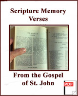 Scripture Memory Verses From the Gospel According to John (PDF)