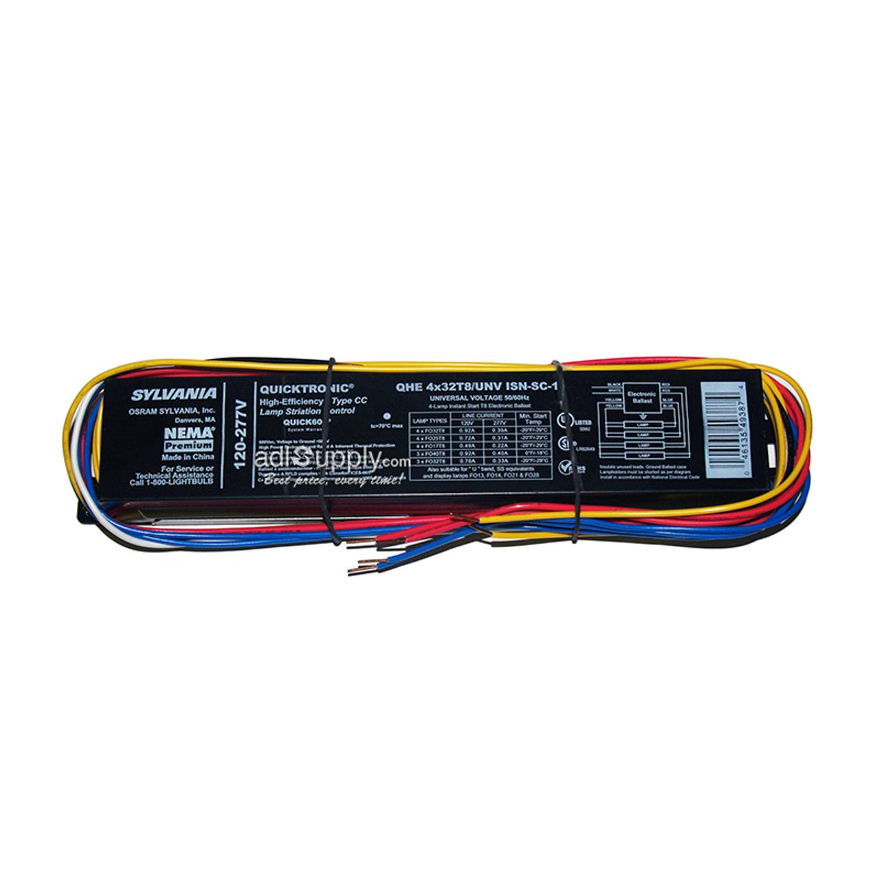 Sylvania Quicktronic QHE2x32T8//UNV ISL-SC Fluorescent Ballast F32T8 Lamps 2