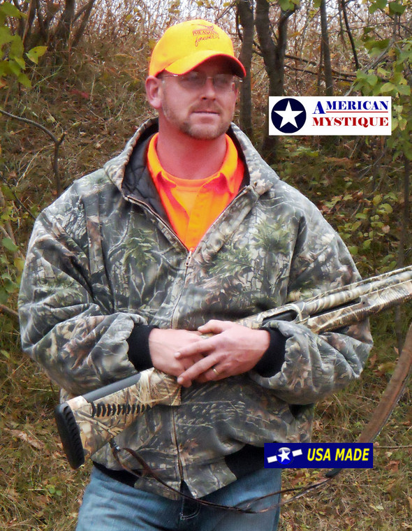 American Mystique Camo Hooded hunting jacket