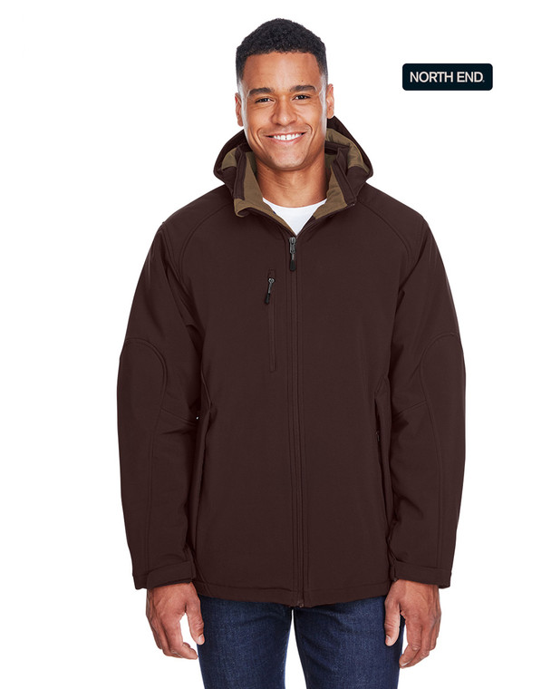 North End Insulated 3-Layer Fleece Bonded Jacket with Hood
