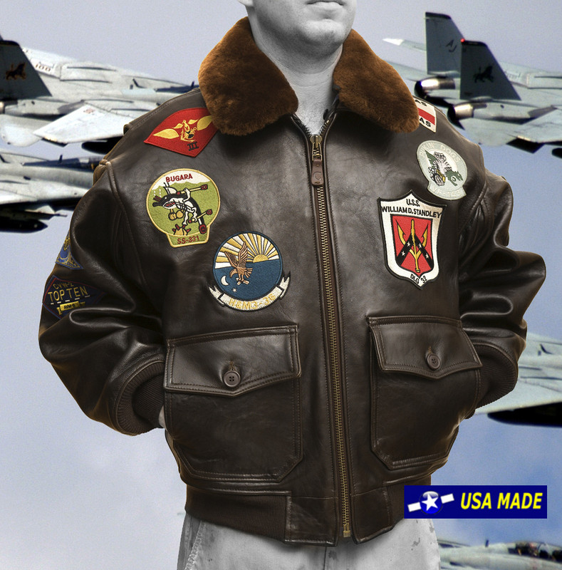 G1 Navy Top Gun Jacket - Lambskin