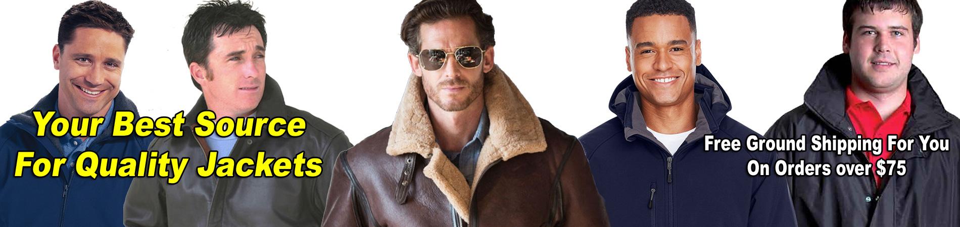 Leather Bomber Jacket, B3 Bomber Jacket, A2 Bomber Jacket, Duck Jacket, Nylon Bomber Jackets, Parkas, T-shirts, Polo shirts!