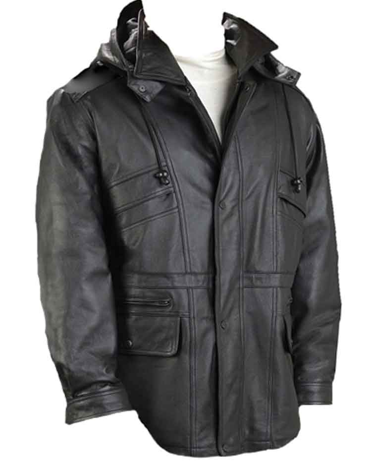 Men's Black Fashion Parka!