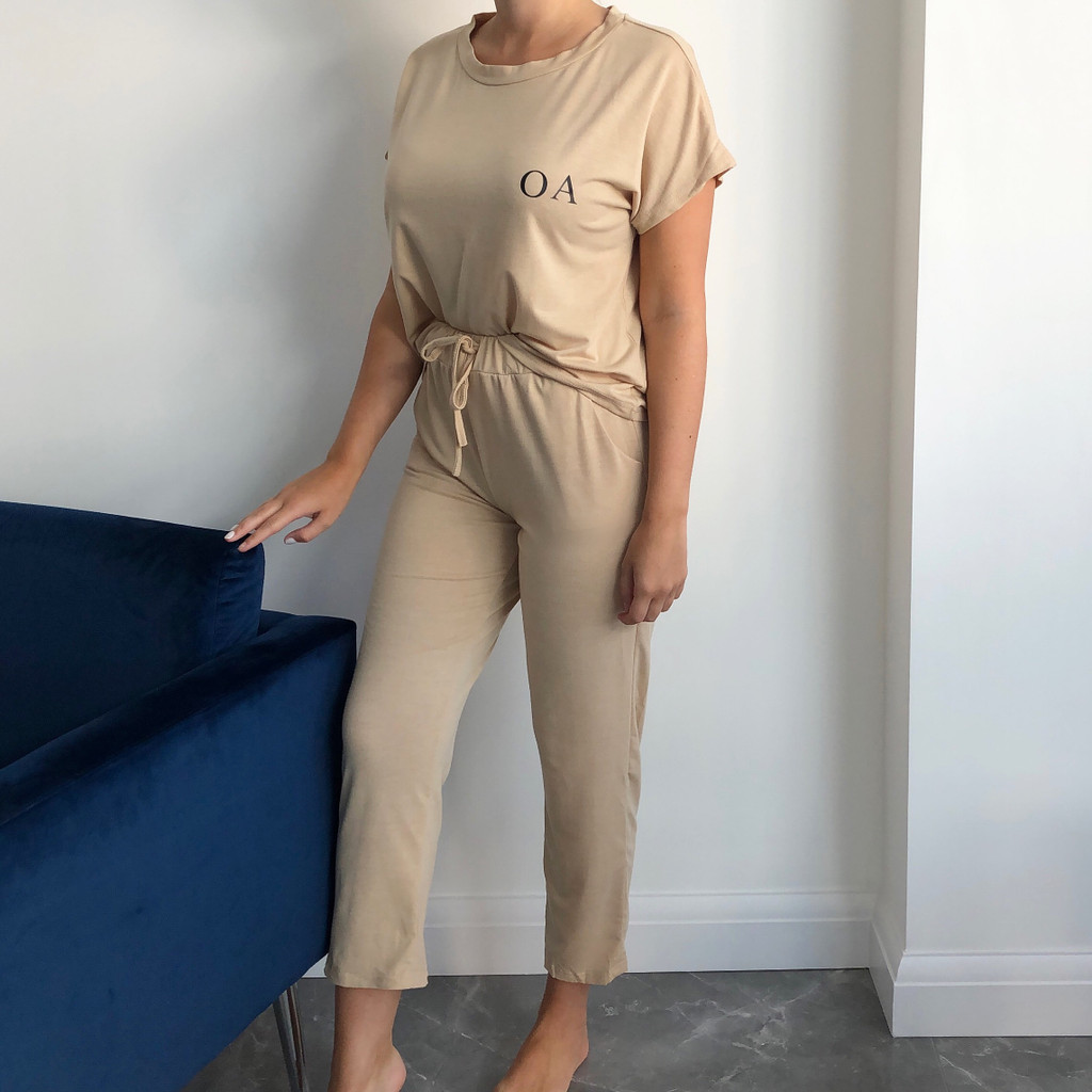 Personalised Short Sleeve Lounge Set (all colours)