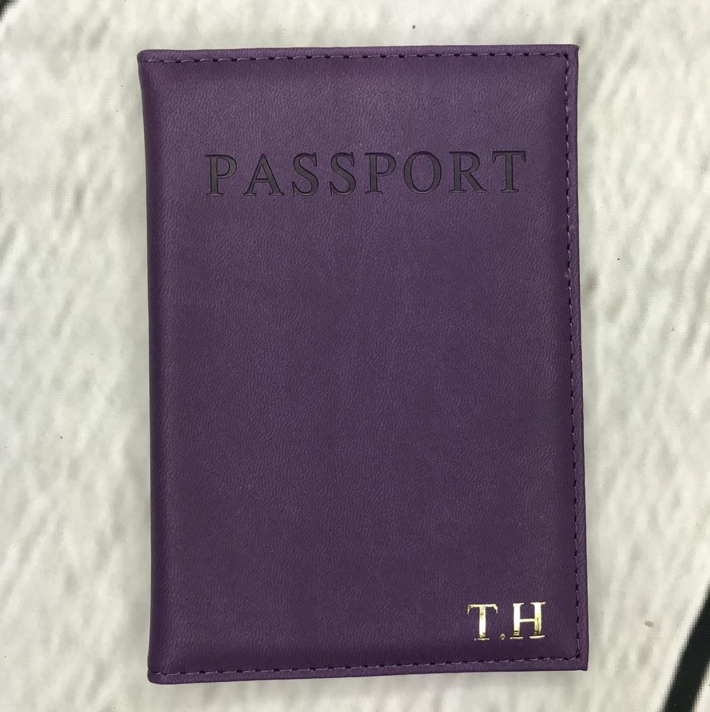 Purple Personalised Passport Cover