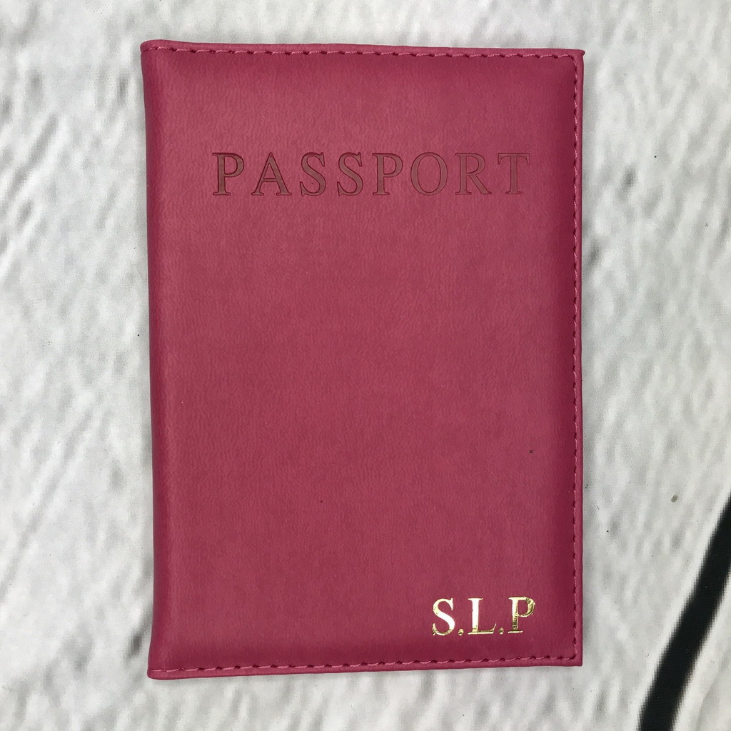 Personalised Fuchsia Passport Cover