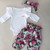 Baby Floral 3 Piece Set