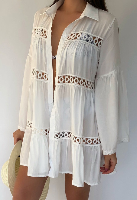 White Shirt Beach Dress