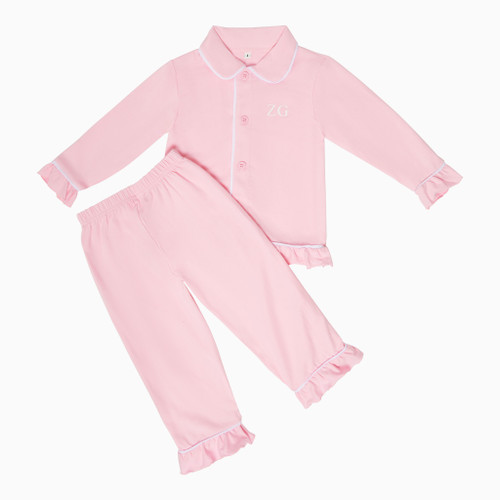 Girls - Kids Pink Personalised Pyjamas