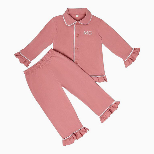 Girls - Kids Dusty Pink Personalised Pyjamas