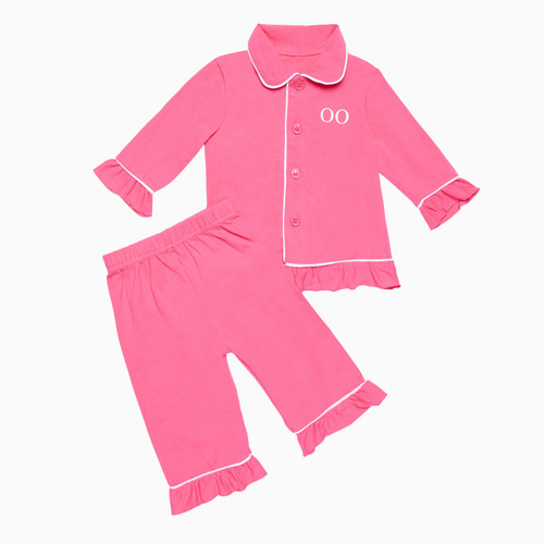 Girls - Kids Fuchsia Pink Personalised Pyjamas