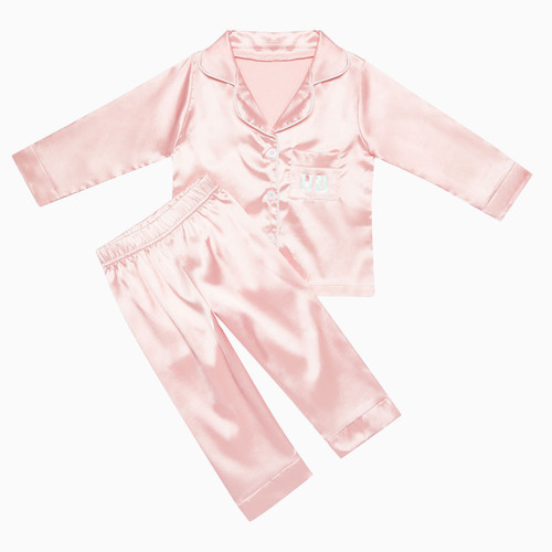 Pink Kids Personalised Satin Pyjamas
